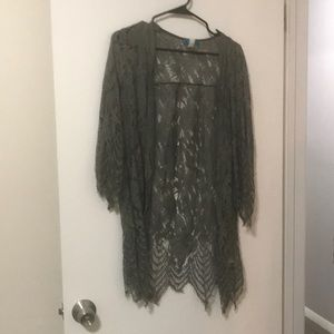 Olive Lace Cover
